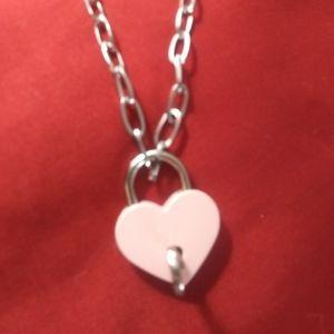 Pink Heart Padlock Necklace Custom